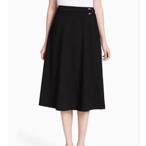 Calvin Klein A Line Midi Short Black Work Belt 6